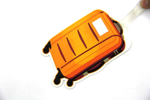 Silicone/Rubber luggage tags for tourist souvenir & gifts, luggage case, #02003-030