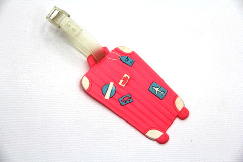 Silicone/Rubber luggage tags for tourist souvenir & gifts, mini luggage case, #02003-042