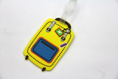 Silicone/Rubber luggage tags for tourist souvenir & gifts, luggage  #02003-044