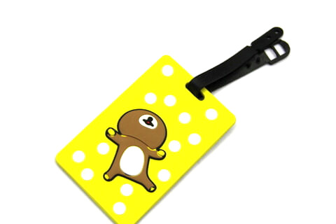 Silicone/Rubber luggage tags, cartoon, alien , #02005-002