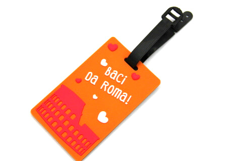 Silicone/Rubber luggage tags for tourist souvenir & gifts, roma, #02003-003
