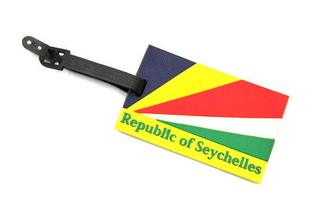 Silicone/Rubber luggage tags for tourist souvenir & gifts, Seychelles, #02005-006