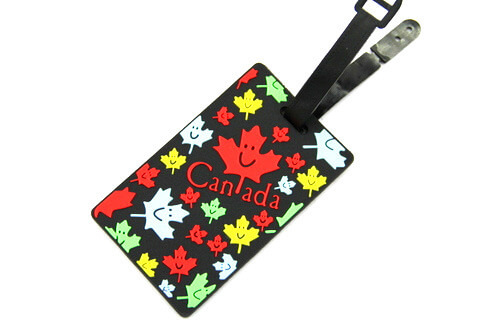 Silicone/Rubber luggage tags for tourist souvenir & gifts, Canada, #02005-007