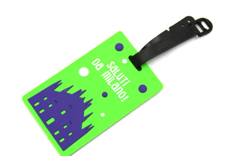 Silicone/Rubber luggage tags for tourist souvenir & gifts, Milano, #02005-009