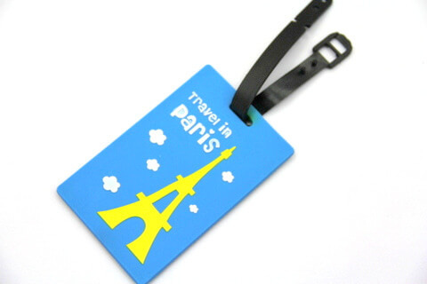 Silicone/Rubber luggage tags for tourist souvenir & gifts, paris, #02005-010