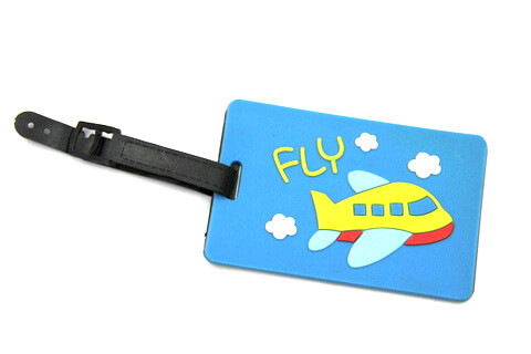 Silicone/Rubber luggage tags for tourist souvenir & gifts, fly, #02005-011-1
