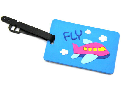 Silicone/Rubber luggage tags for tourist souvenir & gifts, fly, #02005-011-2