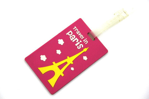 Silicone/Rubber luggage tags for tourist souvenir & gifts, paris, #02005-012