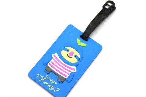 Silicone/Rubber luggage tags, cartoon, cute Henry, #02005-014