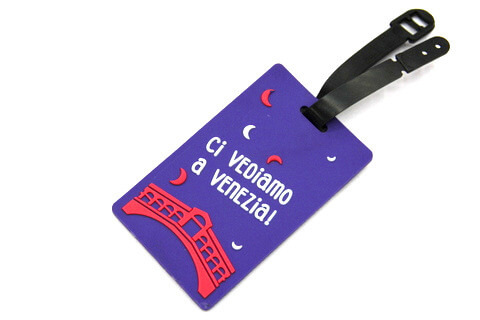 Silicone/Rubber luggage tags for tourist souvenir & gifts, Venezia, #02005-015