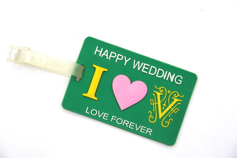 Silicone/Rubber Luggage Tags, wedding, #02005-023