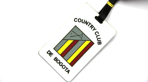 Silicone/Rubber Luggage Tags, brands, country club, #02005-038