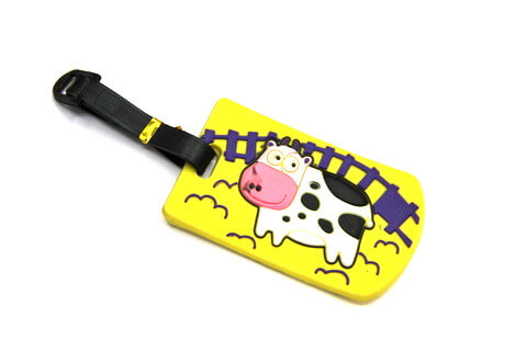 Silicone/Rubber Luggage Tags, themes,milk farm, #02005-046