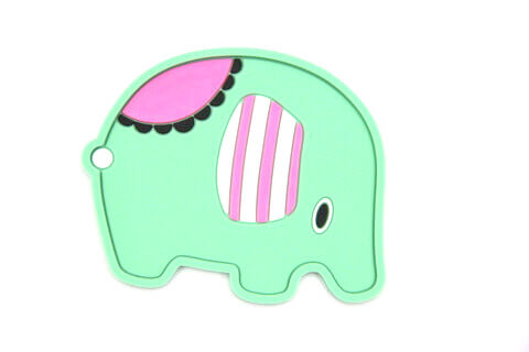 Custom Silicone/Rubber Coasters Cartoon Elephant #02008-002