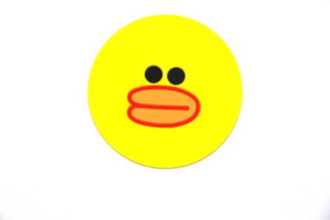 Custom Silicone/Rubber Coasters Cartoon Duck #02008-006
