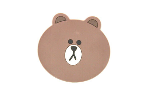 Custom Silicone/Rubber Coasters Cartoon Bear #02008-008