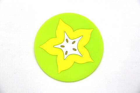 Custom Silicone/Rubber Coasters Cartoon Star Fruit  #02008-010