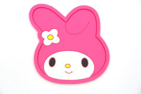 Custom Silicone/Rubber Coasters Cartoon Girl   #02008-011