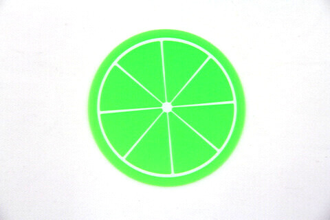Custom Silicone/Rubber Coasters Fruit #02009-001
