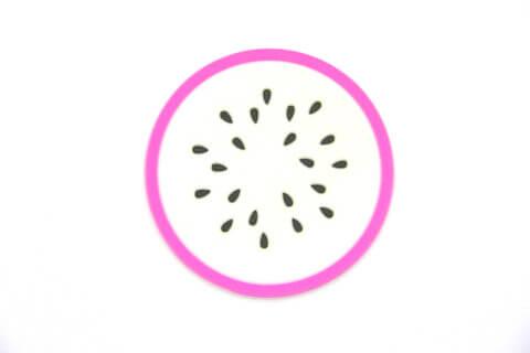 Custom Silicone/Rubber Coasters Pitaya #02009-002