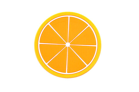 Custom Silicone/Rubber Coasters Orange #02009-004