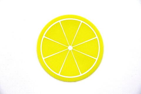 Custom Silicone/Rubber Coasters Kiwi Lemon #02009-006