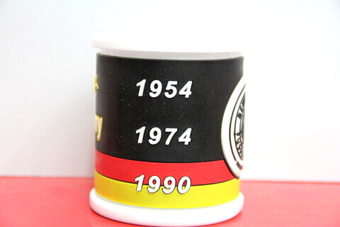 Silicone/rubber drinking cups with custom personalized designs for football promotional & souvenir gifts Germany #02010-006-2