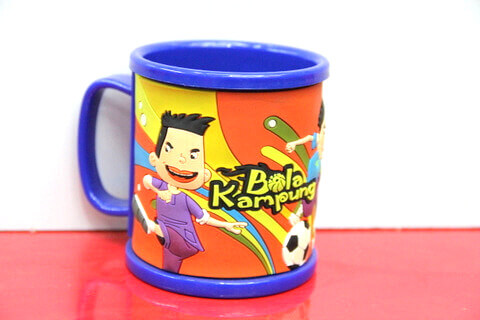 Silicone/rubber drinking cups with custom personalized designs for football promotional & souvenir gifts  #02010-009