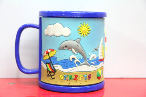 Silicone/rubber drinking cups for promotional&souvenir gifts cartoon dolphin #02011-009