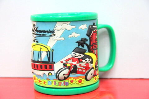 Silicone/rubber drinking cups for promotional&souvenir gifts cartoon Malaysia #02011-012-2