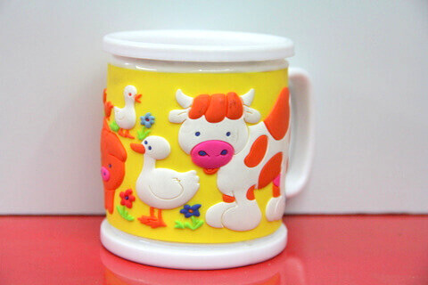 Silicone/rubber drinking cups for promotional&souvenir gifts cartoon farm animal #02011-014-2