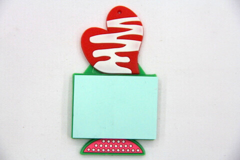 Silicone/Rubber Fridge Magnets Notepad love #02012-001