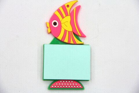 Silicone/Rubber Fridge Magnets Notepad Fish  #02012-003