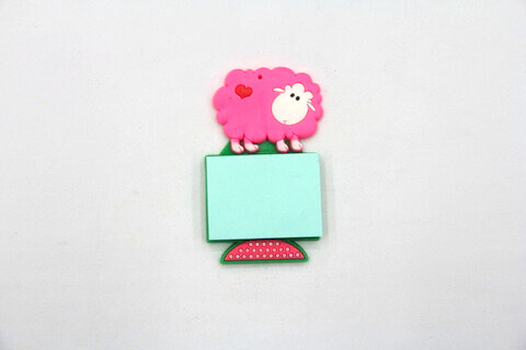 Silicone/Rubber Fridge Magnets Notepad Sheep #02012-005