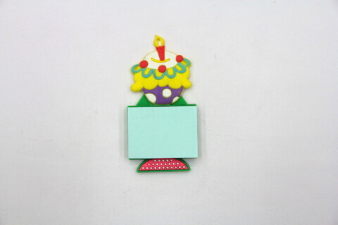 Silicone/Rubber Fridge Magnets Notepad Birthday Cake #02012-006