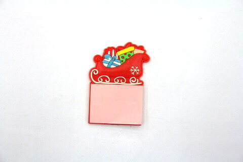 Silicone/Rubber Fridge Magnets Notepad Christmas  #02012-008