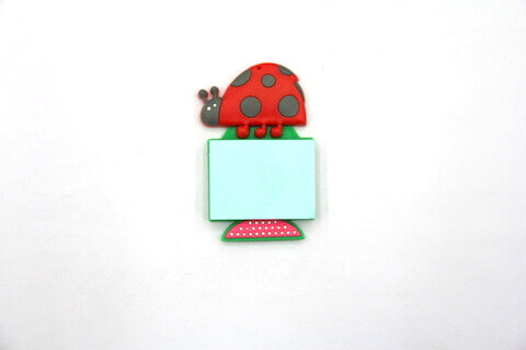 Silicone/Rubber Fridge Magnets Notepad Lady Bird #02012-009