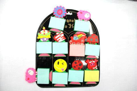 Silicone/Rubber Fridge Magnets Notepad #02012-014