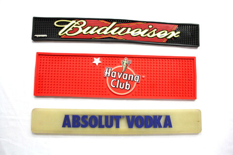 Custom Silicone Bar Mat Budweiser, Absolute Vodka #02014-001