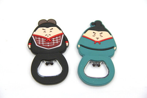 Silicone/rubber bottle opener Japanese men  #02015-001