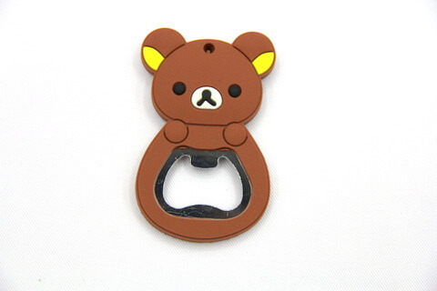 Silicone/rubber bottle opener cartoon bear #02015-009