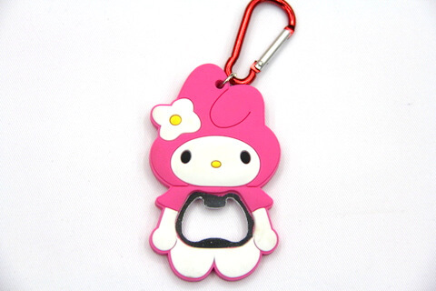 Silicone/rubber bottle opener cartoon girl #02015-010