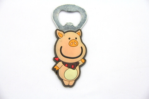 Silicone/rubber bottle opener cartoon bajie #02015-021