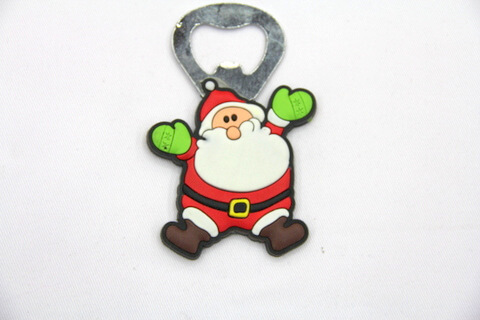 Silicone/rubber bottle opener Santa #02015-035