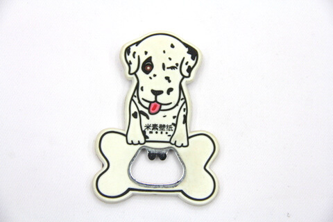 Silicone/rubber bottle opener cartoon logo #02015-037
