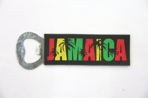 Silicone/rubber bottle opener Jamaica  #02015-038