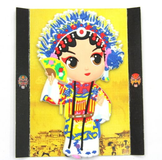 Silicone/Rubber Chinese Culture Character Opera girl  #02016-005
