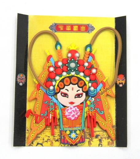 Silicone/Rubber Chinese Culture Character Peking Opera, Mu gui ying (穆桂英)  #02016-006