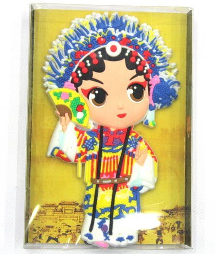 Silicone/Rubber China Culture Character Chinese Opera girl  #02016