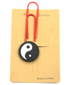Silicone Rubber Bookmarks yinyang tai chi  #02018-003